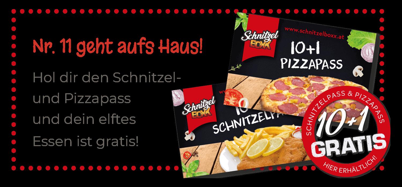 Schnitzelpass und Pizzapass: dein elftes Essen ist gratis!
