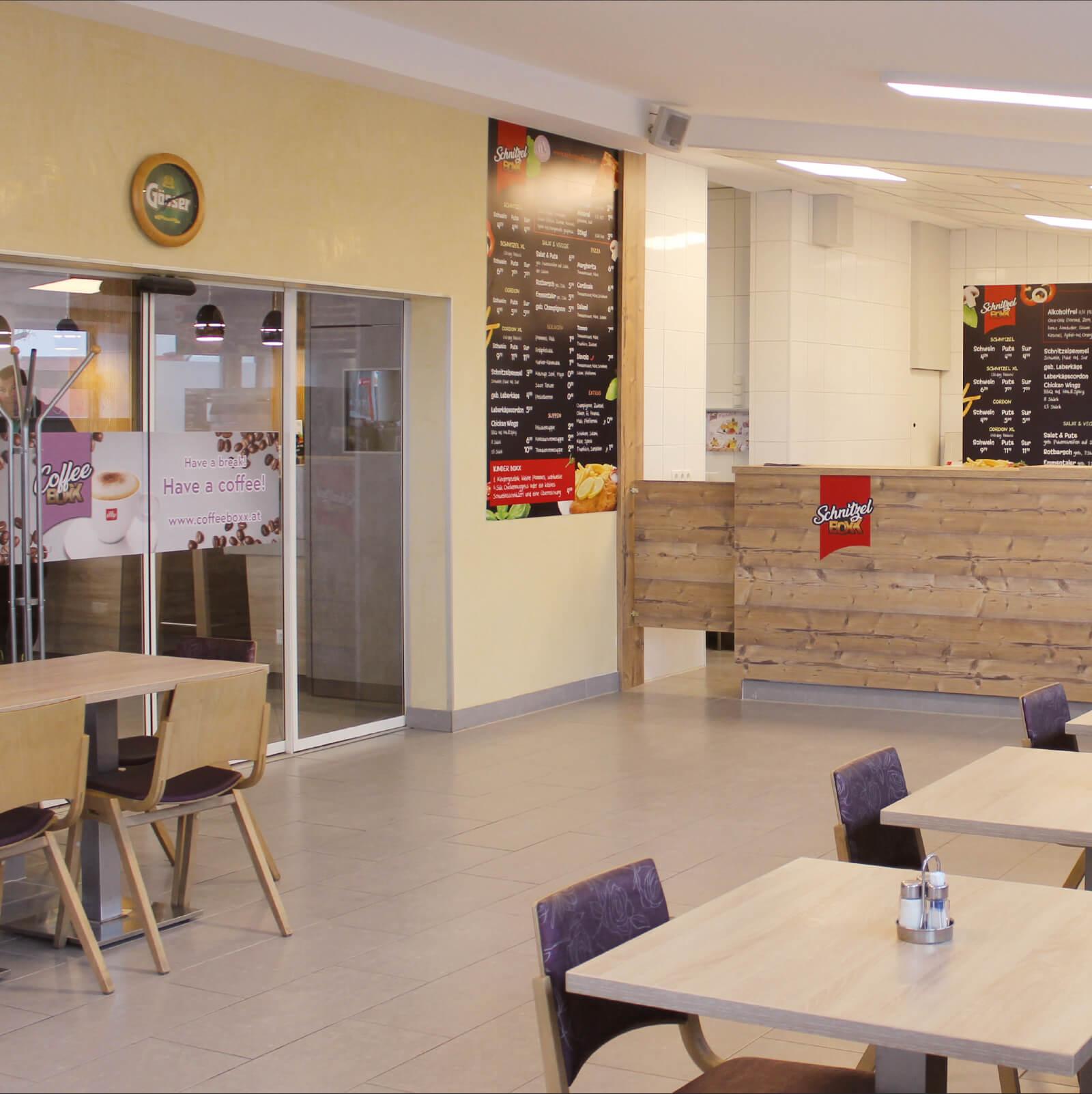 Schnitzelboxx Restaurant Innenansicht